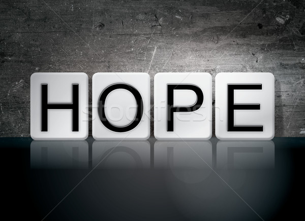 Hope Tiled Letters Concept and Theme Stock photo © enterlinedesign