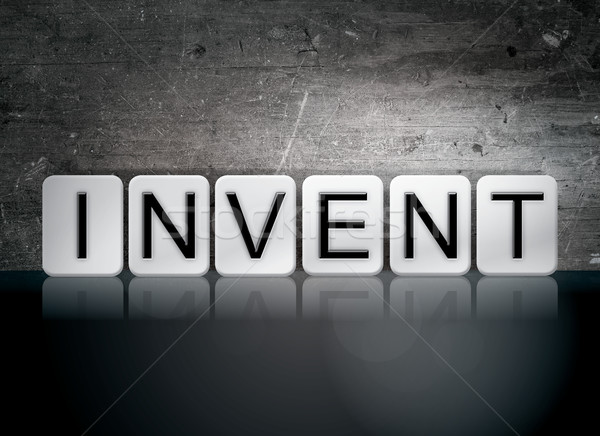 Invent Tiled Letters Concept and Theme Stock photo © enterlinedesign