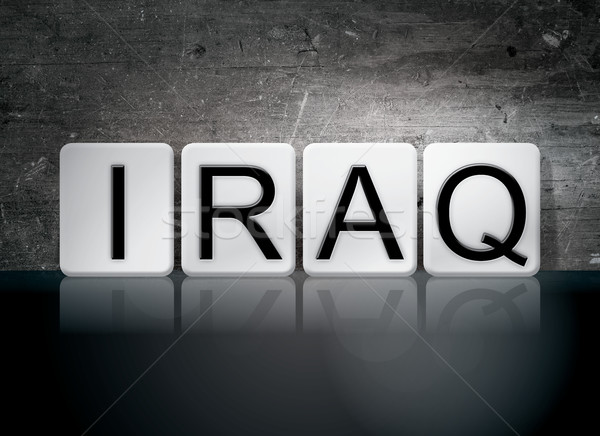 Iraq Tiled Letters Concept and Theme Stock photo © enterlinedesign