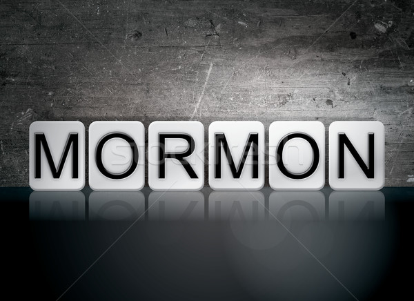 Mormon Tiled Letters Concept and Theme Stock photo © enterlinedesign