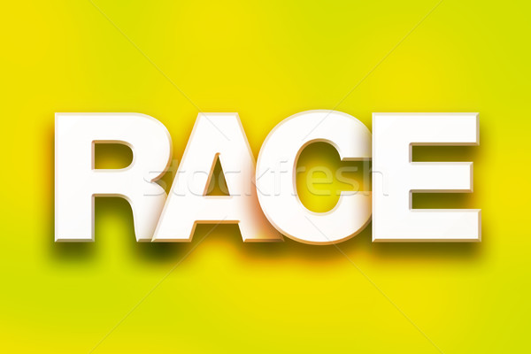 Stock photo: Race Concept Colorful Word Art