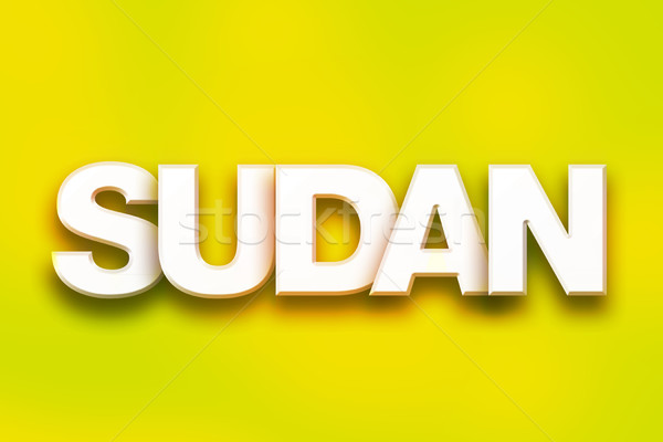 Sudan Concept Colorful Word Art Stock photo © enterlinedesign