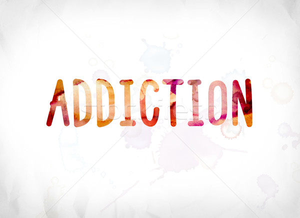 Addiction Concept Painted Watercolor Word Art Stock photo © enterlinedesign