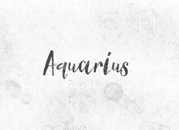 Aquarius Concept Painted Ink Word and Theme Stock photo © enterlinedesign