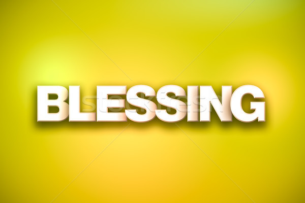 Blessing Theme Word Art on Colorful Background Stock photo © enterlinedesign