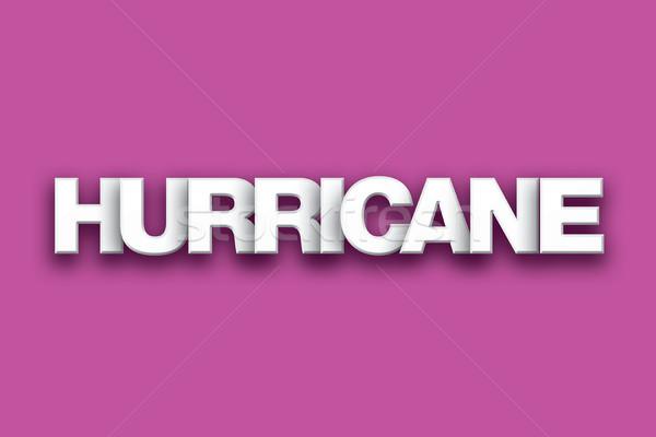 Kasırga kelime sanat renkli yazılı beyaz Stok fotoğraf © enterlinedesign
