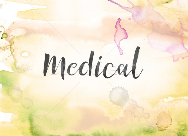 Medical Concept Watercolor and Ink Painting Stock photo © enterlinedesign