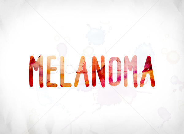 Melanoma Concept Painted Watercolor Word Art Stock photo © enterlinedesign