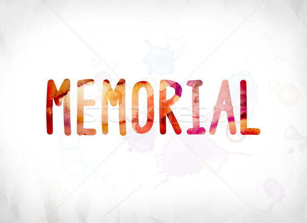 Memorial Concept Painted Watercolor Word Art Stock photo © enterlinedesign