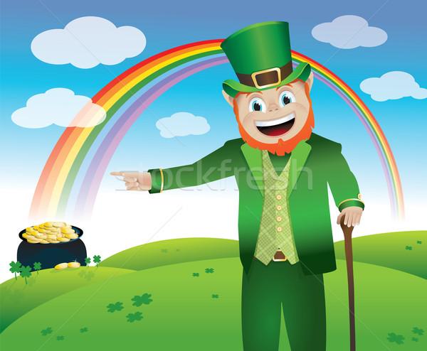 Saint Patrick's Day Leprechaun Stock photo © enterlinedesign