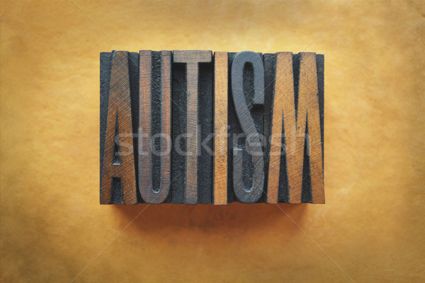 Autismo palavra escrito vintage tipo Foto stock © enterlinedesign