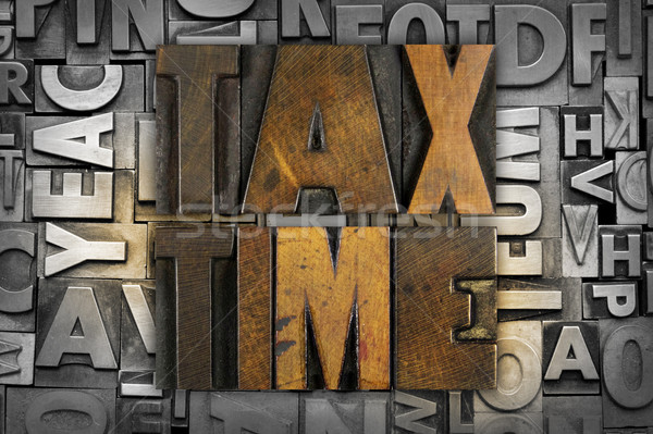 Tax TIme Stock photo © enterlinedesign