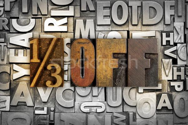 Jeden trzeci słowa 13 napisany Zdjęcia stock © enterlinedesign