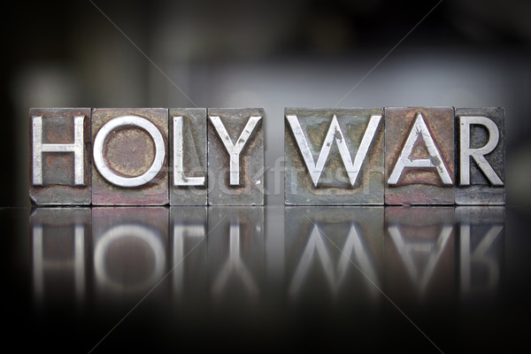 Holy War Letterpress Stock photo © enterlinedesign