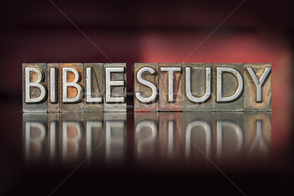 Bible Study Letterpress Stock photo © enterlinedesign