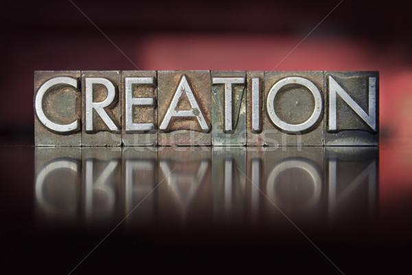 Stockfoto: Schepping · woord · geschreven · vintage · type