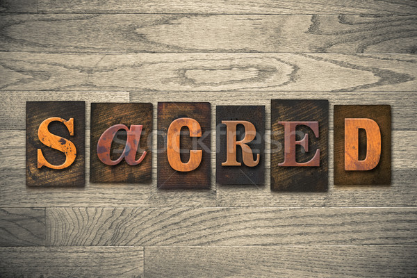 Sagrado tipo palabra escrito Foto stock © enterlinedesign