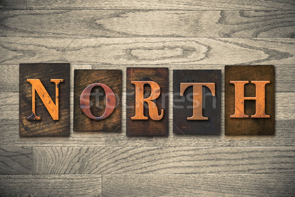 North Wooden Letterpress Theme Stock photo © enterlinedesign