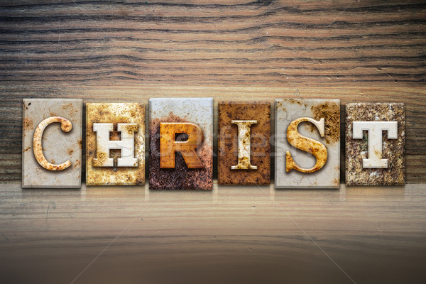 Christ Concept Letterpress Theme Stock photo © enterlinedesign