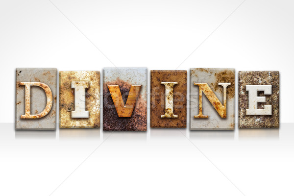 Divine Letterpress Concept Isolated on White Stock photo © enterlinedesign
