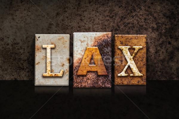 LAX Letterpress Concept on Dark Background Stock photo © enterlinedesign