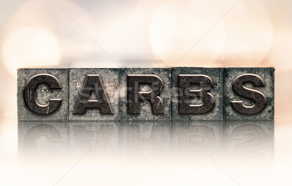 Carbs Concept Vintage Letterpress Type Stock photo © enterlinedesign