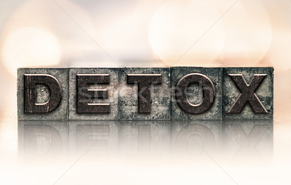Detox Concept Vintage Letterpress Type Stock photo © enterlinedesign