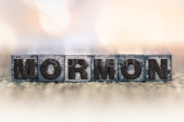 Mormon Concept Vintage Letterpress Type Stock photo © enterlinedesign