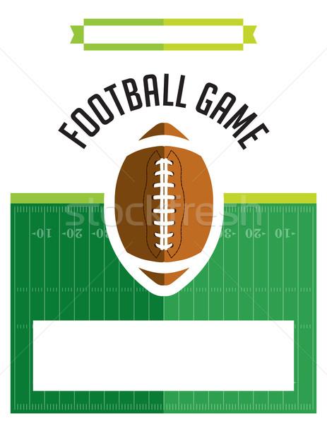 Amerikai futballmeccs szórólap illusztráció sablon vektor Stock fotó © enterlinedesign