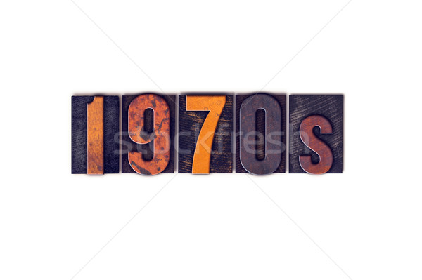 1970s Concept Isolated Letterpress Type Stock photo © enterlinedesign