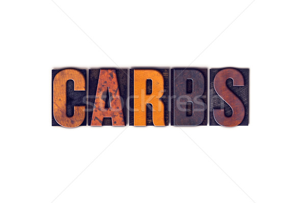 Carbs Concept Isolated Letterpress Type Stock photo © enterlinedesign