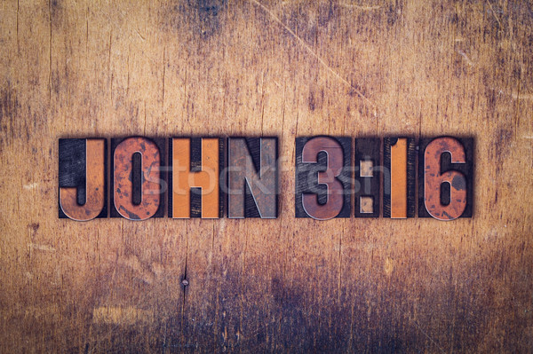 John 316 Concept Wooden Letterpress Type Stock photo © enterlinedesign