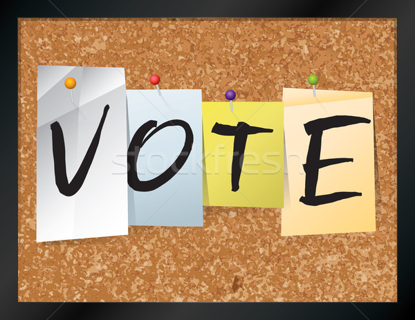 Vote Bulletin Board Theme Illustration Stock photo © enterlinedesign