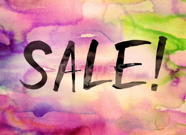 Sale Concept Watercolor Theme Stock photo © enterlinedesign