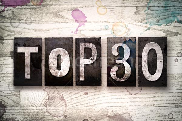 Top 30 Concept Metal Letterpress Type Stock photo © enterlinedesign