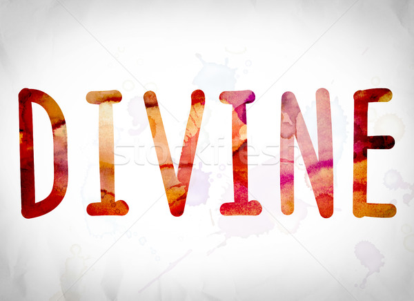 Divine Concept Watercolor Word Art Stock photo © enterlinedesign