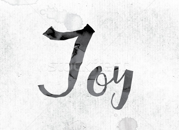 Joy Concept Painted in Ink Stock photo © enterlinedesign