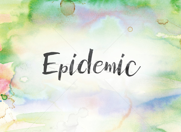 Epidemic Concept Watercolor and Ink Painting Stock photo © enterlinedesign