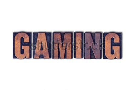 Gaming Concept Isolated Letterpress Word Stock photo © enterlinedesign