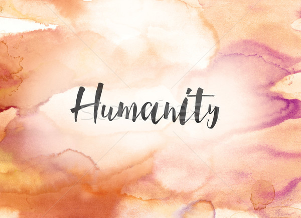 Humanity Concept Watercolor and Ink Painting Stock photo © enterlinedesign