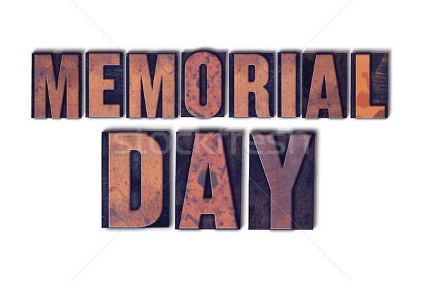 Memorial Day Concept Isolated Letterpress Word Stock photo © enterlinedesign