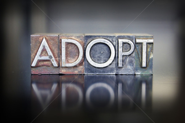 Adopt Letterpress Stock photo © enterlinedesign