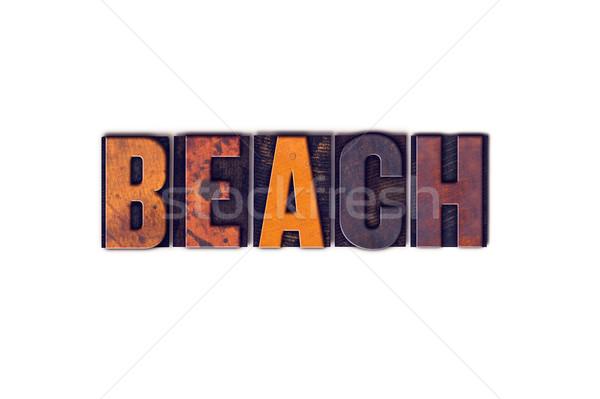 Stok fotoğraf: Plaj · yalıtılmış · tip · kelime · yazılı