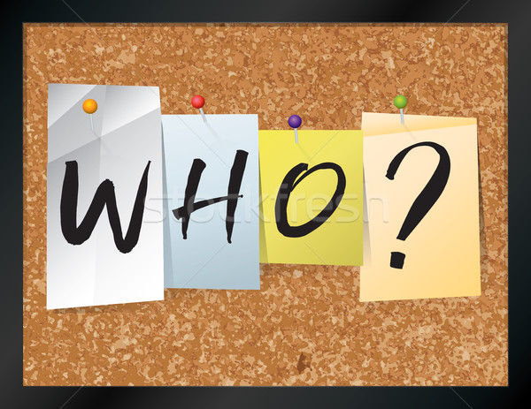 Who Bulletin Board Theme Illustration Stock photo © enterlinedesign