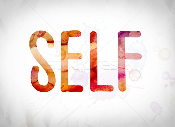 Self Concept Watercolor Word Art Stock photo © enterlinedesign