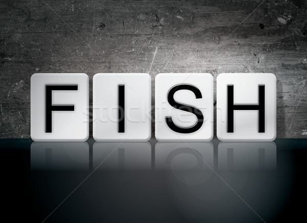 Fish Tiled Letters Concept and Theme Stock photo © enterlinedesign
