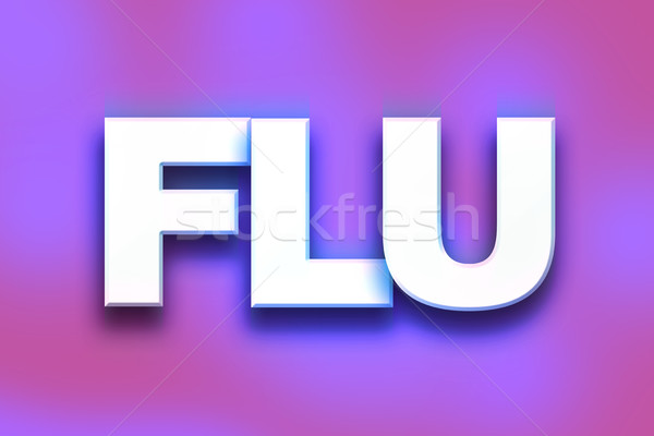 Flu Concept Colorful Word Art Stock photo © enterlinedesign
