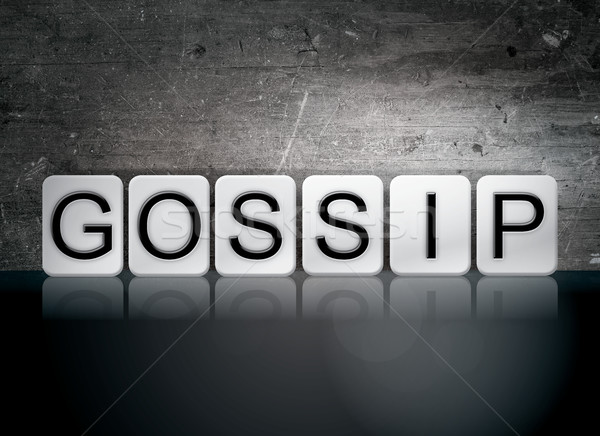 Gossip Tiled Letters Concept and Theme Stock photo © enterlinedesign
