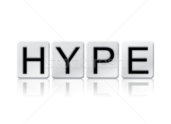 Hype Isolated Tiled Letters Concept and Theme Stock photo © enterlinedesign