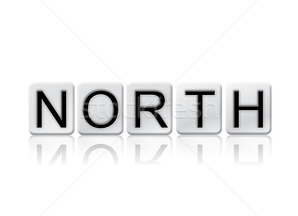 North Isolated Tiled Letters Concept and Theme Stock photo © enterlinedesign
